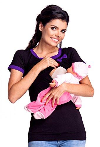 zeta-ville-t-shirt-arco-allattamento-premaman-disegno-a-strati-donna-996c-nero-porpora-it-42-44-l