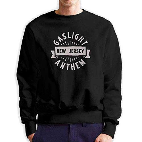 SASJOD Männer Hoodies The Gaslight Anthem Men's Adult Crew Neck Sweatshirt Fashion Long Sleeve Pullover -