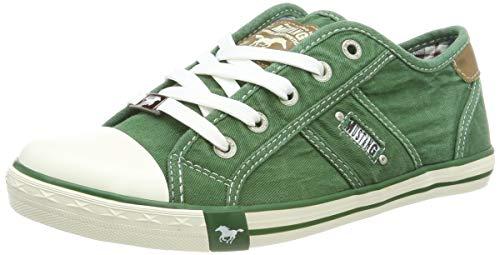 3aadee2c47 Mustang 1099-302-709, Zapatillas para Mujer, Verde (Grasgrün 709), 39 EU