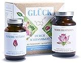 GLÜCK DURCH ACHTSAMKEIT | Ganzheitlicher Stimmungsaufheller für innere Stärke und Gelassenheit | Bakterien- und Mikronährstoff-Komplex | Ashwagandha, 5-HTP, OPC, Ginkgo, Vitamin B-Komplex | 100% Natur