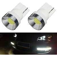 Mengonee 2pcs/set del coche del vehículo W5W T10 168 194 COB bombilla de la lámpara LED luz de la anchura de la cuña lateral 6000K Color de luz blanca
