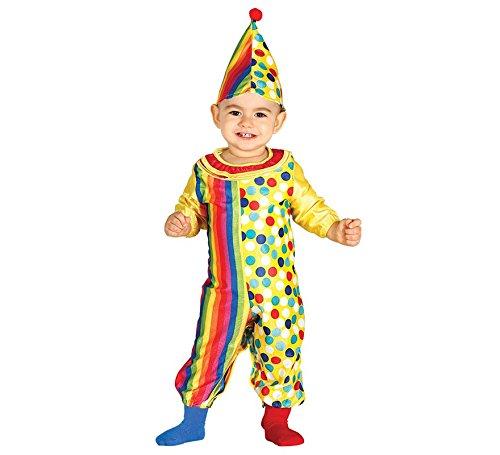 Guirca- Costume da Pagliaccio Neonato 6/12 Mesi, Multicolore, 6-12, 85971