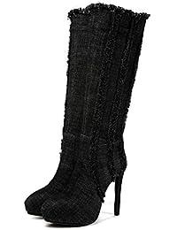 es Para Altas Botas 39 Tacon Aguja Amazon Mujer Zapatos De aw7aZ