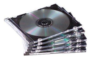 Fellowes 25er Pack Slim Jewel Cases CD-Leerhüllen transparent Slim-pack