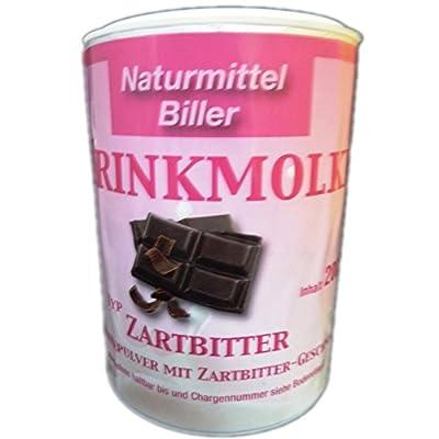 Molke Biller Trinkmolke Molkepulver Molkegetränk Molkeneiweiß Geschmack Zartbitter 200g Dose