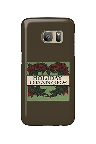 Holiday Oranges - Citrus Crate Label (Galaxy S7 Cell Phone Case, Slim Barely There) - Orange Crate Label