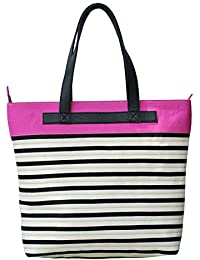 Neonia Pink Polyester Tote Bag For Girls (Nia-Tote-9)