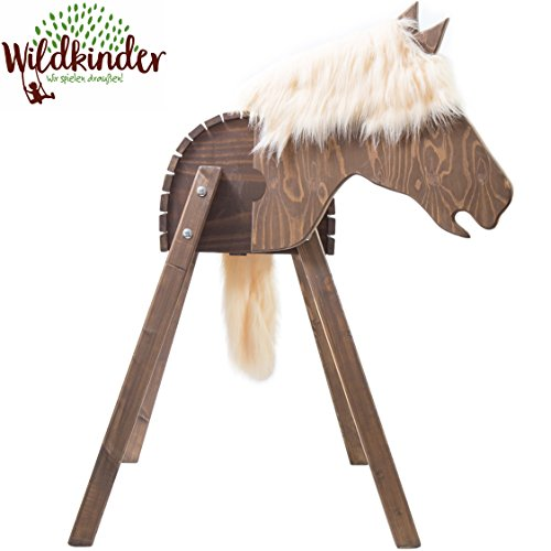 Wooden-Standing-Horse-Play-Horse-XXL-Alternative-to-Large-Rocking-Horse-Handmade-in-Germany-Highest-quality-from-Wildkinder-Robust-Stable-Secure-For-Outdoors-Garden-and-Indoors-Weatherproof-Glaze-Deli