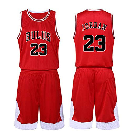 Michael Jordan # 23 Basketball Jersey - Klassisches ärmelloses Set, Chicago Bulls, Basketball für Männer-red-S