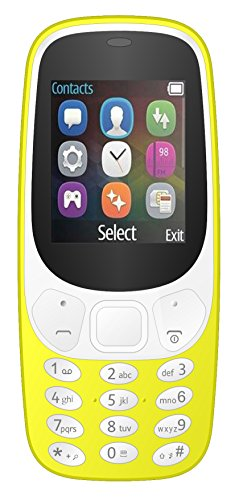 I KALL K3310 Dual Sim Feature Mobile Phone With Money Detector Light And BATTERY SAVER option with 1 Year Warranty- Yellow