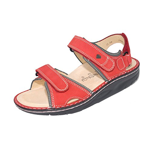 Finn Comfort Womens Yuma 1561 Leather Sandals Rot