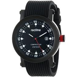 red line Herren RL-18000-01-BBWSET Compressor Black Dial Black Silicone Uhr