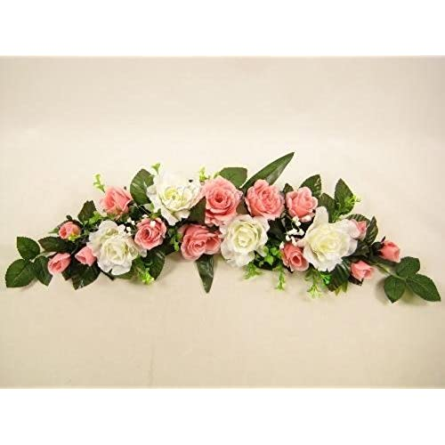 Top table wedding decorations amazon two tone rose artificial flowers swag slim table centrepiece wedding car shelf pink from gt decorations junglespirit Choice Image