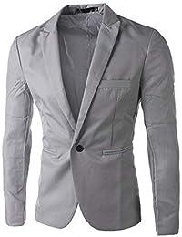 BaZhaHei Invierno Abrigo Casual Sudadera de Capa Jacket Parka Pullover un botón Traje Blazer Abrigo Chaqueta