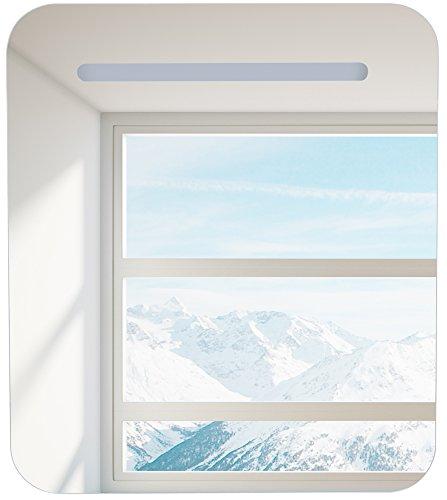 Spiegelschrank mit Halogenbeleuchtung - 60 cm x 80 cm x 13,5 cm