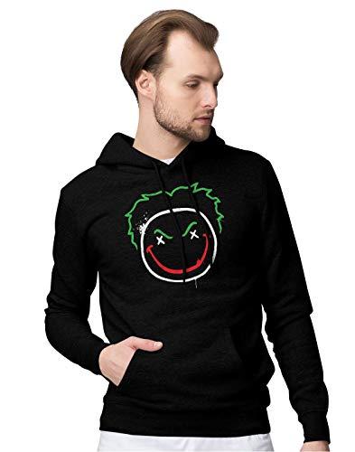 BLAK TEE Herren Joker Face Logo Kapuzenpullover S