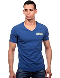 GUESS - T SHIRT PLAYFUL BLEU ROYAL COL EN V