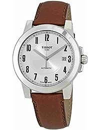 Reloj Tissot Hombre t098.407.16.032.00automático acero quandrante plateado correa piel