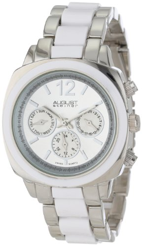 August Steiner Femme AS8062WT Resin Swiss Quartz Multi-Function Bracelet Montre