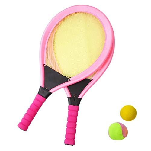 Cxky Leichte Tennisschläger-Spielzeug for Kinder Outdoor Sport Tennisschläger Sets Tennisschläger mit Ball-Spiel spielt for Kinder Kinder (Color : Rosy)