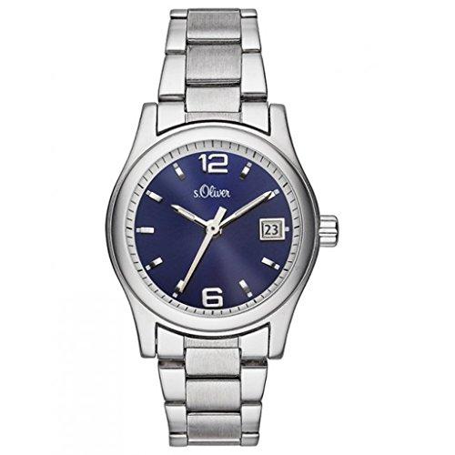 s.Oliver Damen-Armbanduhr SO-3287-MQ (Mit Damen-uhren Datumsanzeige)