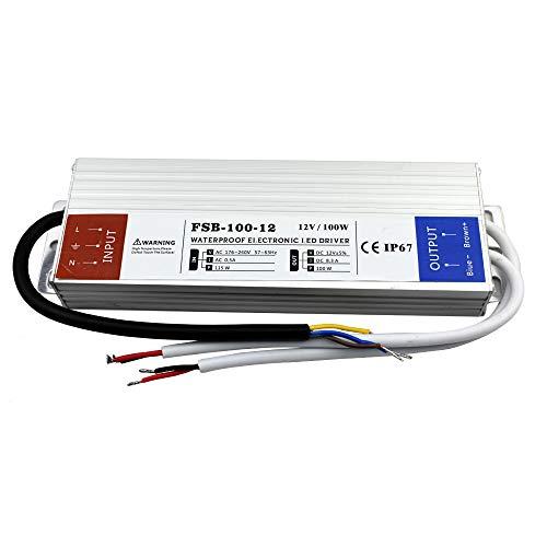 Trafo für den Innen- und Außenbereich, wasserdicht, IP67, LED, 240 V AC auf DC 12 V, für LED-Beleuchtung, CCTV-Kamera, Billboard, Spot-Licht, Straßenlicht etc. Ac Kamera