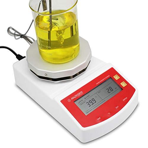 ANZESER Magnetrührer mit Heizplatte, Magnetic Stirrer LCD-Display, Digitaler Automatischer Laborrührer, Heizplatte mit Konstanter Temperatur, Elektronischer Thermostat, Rührmenge: 2000mL, 220V