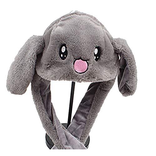 laonBonnie Bewegliches Kaninchen/Schwein/Huhn-Hut-Ohr-Bewegungs-Hut-lustiger weißer Kaninchen-Hut-Tierwinter-Hüte für Frauen-Mädchen-Kinder