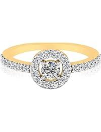 IskiUski The Malka Diamond Ring 14Kt Swarovski Crystal Yellow Gold Ring For Women