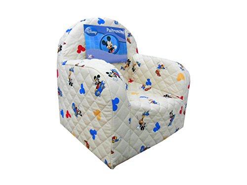Poltrona sedia poltroncina disney topolino mickey colore panna camera cameretta