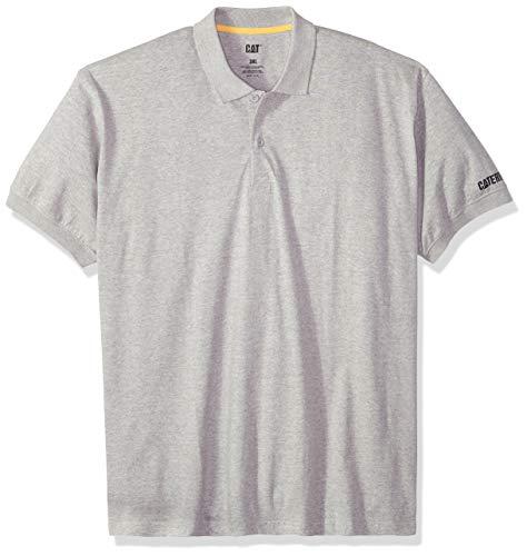 Caterpillar Herren Big-Tall Classic Cotton Polo Shirt Poloshirt, grau meliert, 4X-Large -