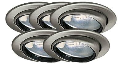 Paulmann 98454 Möbel EBL Set schwenkbar 5x20W 105VA 230/12V G4 69mm Eisen geb/Stahl/Glas von Paulmann Leuchten auf Lampenhans.de