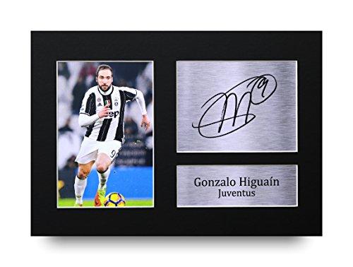 HWC Trading Gonzalo Higuaín unterzeichnet A4gedrucktem Autogramm Juventus Print Foto Bild Display–tolle Geschenkidee (Unterzeichnet Display)