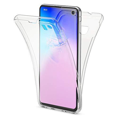 NALIA 360 Grad Hülle kompatibel mit Samsung Galaxy S10e, Full Cover vorne hinten Rundum Doppel-Schutz Handyhülle Dünn Ganzkörper Case Silikon Etui, Durchsichtig Displayschutz Rückseite - Transparent Full Cover