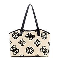 Guess Hobo Bag For Women, White and Black - CV775523