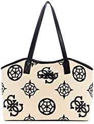 Guess Hobo Bag For Women, White and Black - CV775523