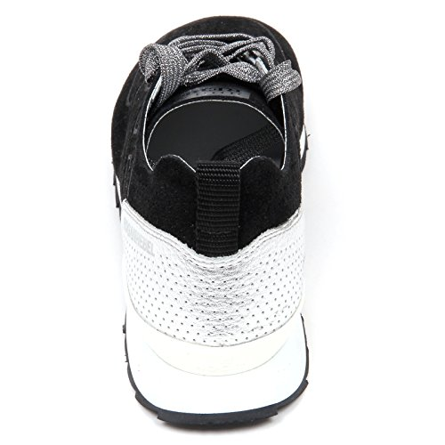 D0590 Sneaker Femme Hogan Rebel R261 Chaussure Noir / Argent Chaussure Femme Noir / Argent
