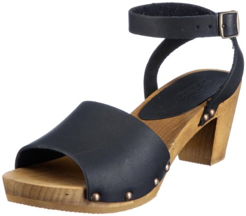 Sanita Wood-Yara Flex Sandal 457357-2, Sandali Donna Nero (Black 2)