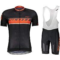 LIGHTOP Maillots de Ciclismo Hombres Conjunto de Ropa Camiseta y Pantalones Cortos de Ciclismo para Ciclismo al Aire Libre