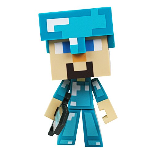 Minecraft Diamond Steve Toy action figure - figuras de acción y de colección (Toy action figure, Videojuego, Minecraft, Beige, Azul, Vinilo, Window box)