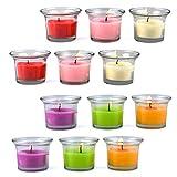 Candele profumate Candele di aromaterapia Set 12 pezzi Candela aromatica in vetro per relax Aromaterapia Regalo antistress di Natale
