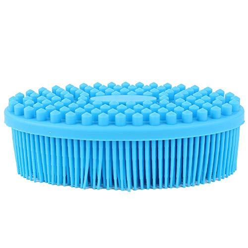 Empfindliche Haut-haar-bürste (Alomejor Babybadebürste Kind Silikon Körper Massagebürste Körperwäsche Bad Dusche Werkzeug für Kleinkind Empfindliche Haut Haar Gesicht(Blau))
