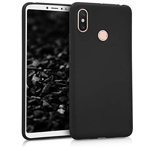 kwmobile Funda para Xiaomi Mi MAX 3 - Carcasa para móvil en TPU Silicona - Protector Trasero en Negro Mate