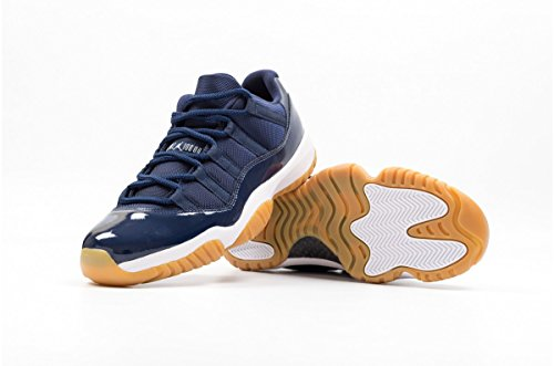 Nike Air jordan 11 retro low, chaussures de sport - basketball homme Azul (midnight navy/white-gum light brown)
