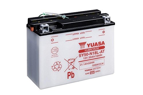 Batteria YUASA sy50-n18l di At, 12V/20ah (dimensioni: 206X 91X 163) per Harley Davidson FLHS 1340Electra Glide Sport anno 1990