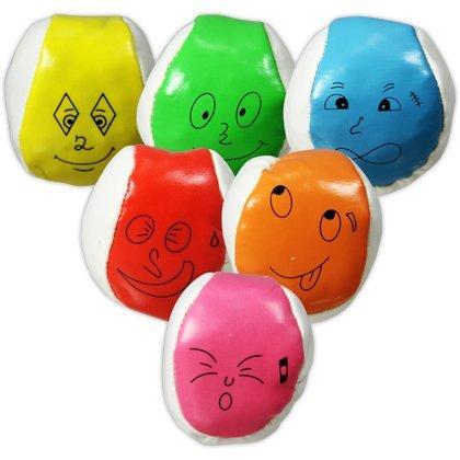 """8 x HC-Handel 911337 Catchball Jonglierball \""""Gesicht\"""" 5,5 cm"""