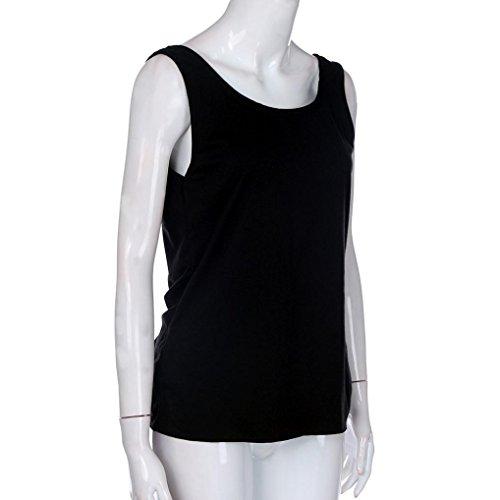 Manadlian T-Shirt Femmes, 2017 Femmes Chemisier Décontracté en Manche sans Manches Sexy sans Manches Solid Twist Backless Noir