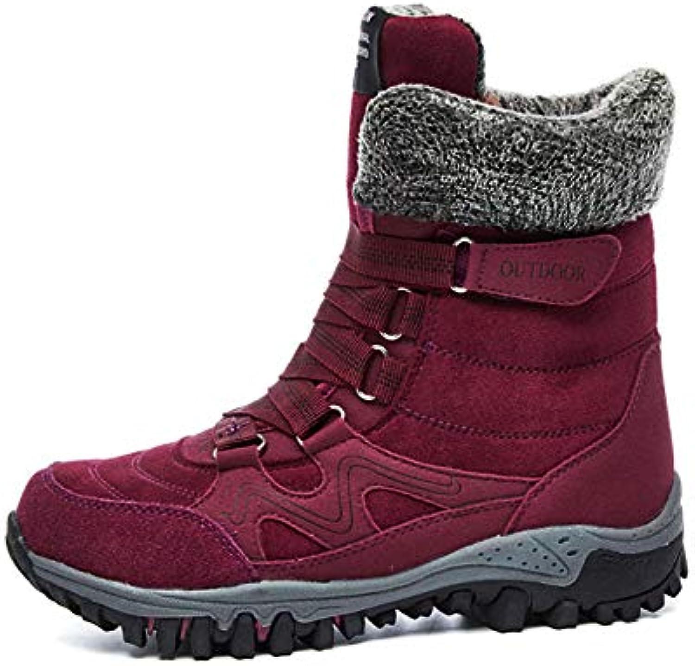 0a6312524da0 PLNXDM Stivali Da Donna Stivali Da Neve Neve Neve Invernali Per  Impermeabili Foderato Di Pelliccia Allacciate
