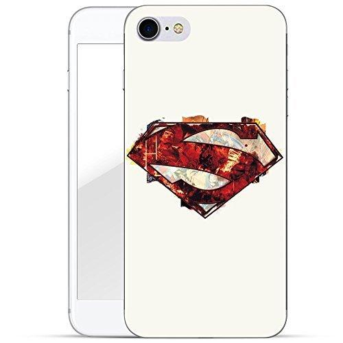 finoo | iPhone 8 Plus Handy-Tasche Schutzhülle | ultra leichte transparente Handyhülle in harter Ausführung | kratzfeste stylische Hard Schale mit Motiv Cover Case |Superman dad black Superman logo red