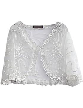 Lannister Fashion Chal Mujer Fiesta Elegantes Vintage Transparentes Encaje Cardigan Poncho Estola Ropa Bolero...
